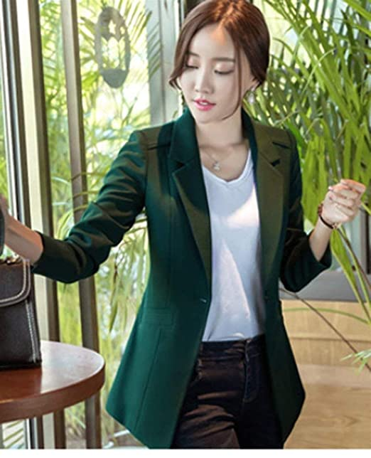 9ed46ff17cf87a Anzug Damen Frühling Herbst Oversize Business Blazer Jacken Party Stil Mode  Elegant Slim Fit Revers Longsleeve Formal Office Anzugjacke Mädchen:  Amazon.de: ...