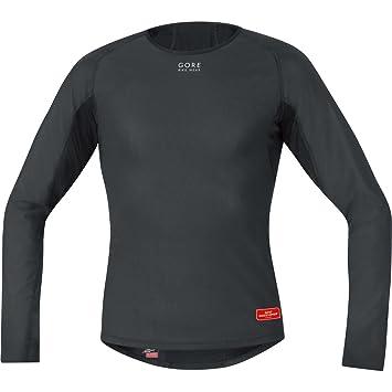 Gore Bike Wear Men s Windstopper Base Layer Long Sleeve Thermal Shirt -  Black 78d30191f