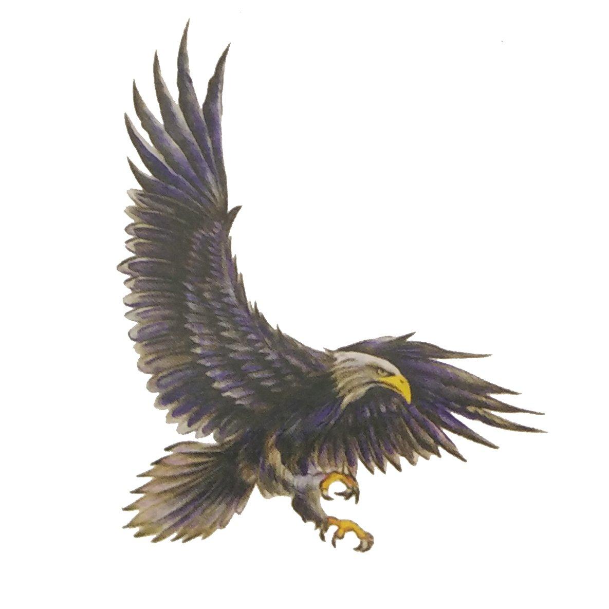 Temporary Tattoo 3d Eagle Tattoo Sticker Size 6x6cm 1pc