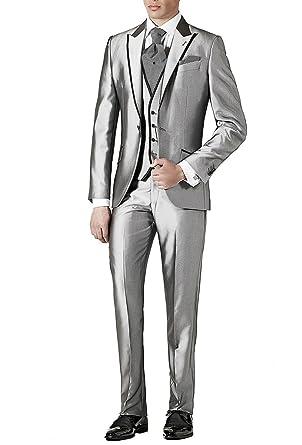 toller Wert gut kaufen Top-Mode Suit Me Regular Herren Anzug 3 Teiler Sakko Hose Weste B¨¹ro ...