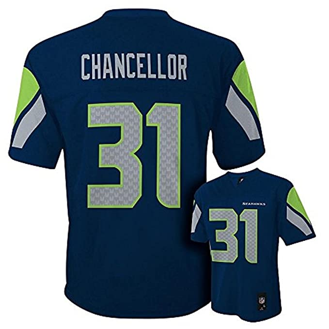 Image Unavailable. Image not available for. Color  Kam Chancellor Seattle  Seahawks Navy Blue NFL ... 4c7492ab3
