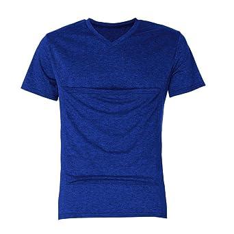 ♚Camiseta de Hombre Canguro, Camiseta de Manga Corta Multifunción Camiseta de Bebé Papá Absolute