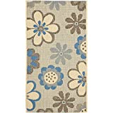 Safavieh Courtyard Collection CY4035B Natural Brown and Blue Indoor/Outdoor Area Rug (2'7″ x 5′)