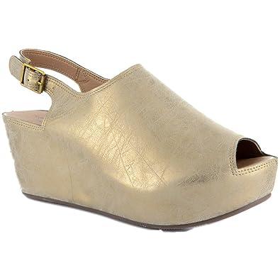 Corkys College Women's Sandal 8 B(M) US Gold