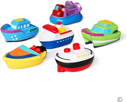 Baby Bath Toy Flashing Light Music Squirting Water Sail Boat Toddler Bathtub Toy