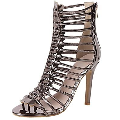 dff5337128 Amazon.com | Artfaerie Womens High Stiletto Heel Gladiator Peep Toe Sandals  Caged Sexy Summer Roman Shoes | Heeled Sandals