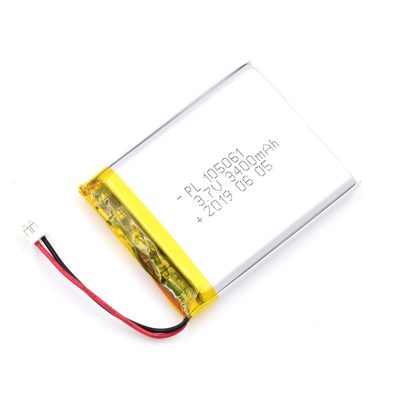 Bateria Lipo 3.7V 3400mAh 105061 Recargable JST Conector