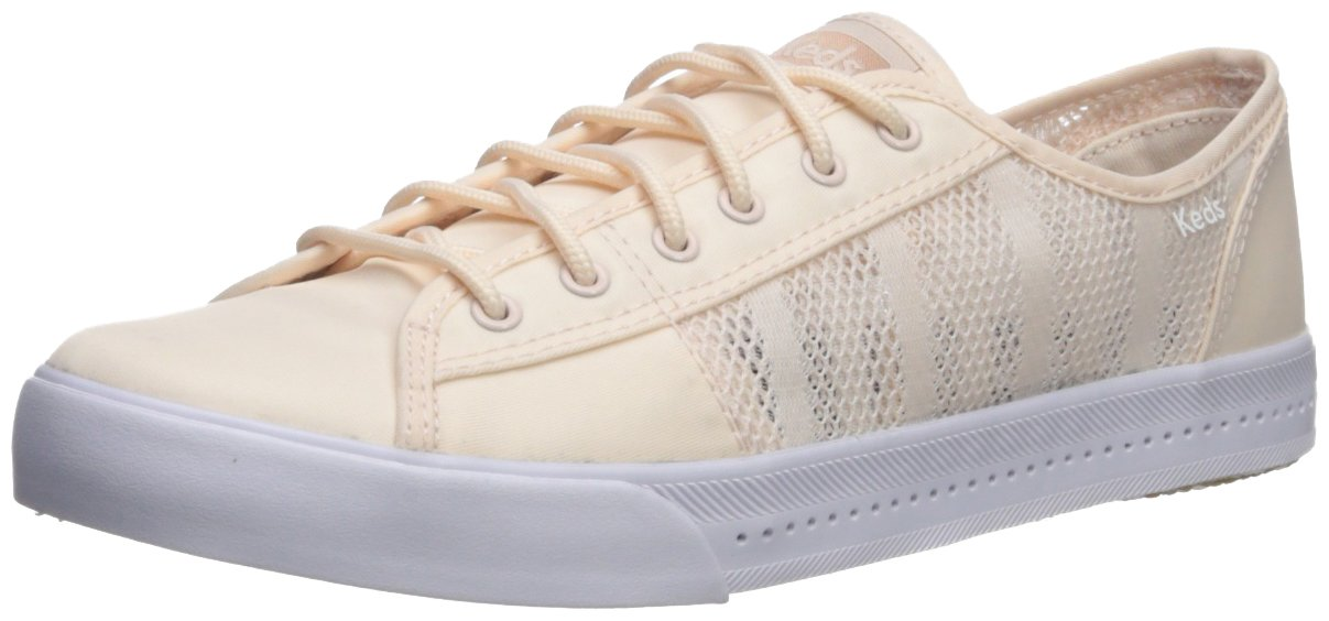Keds Women's Kickstart Vent Striped Mesh Sneaker B073SKB9GJ 8 M US|Light Pink