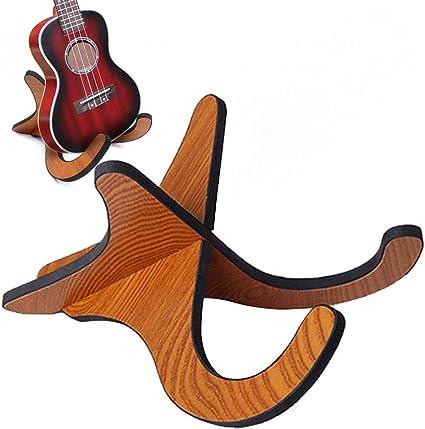 Gaetooely Pied de guitare en alliage daluminium 190mm Trepied pliant Supporter support guitare acoustique electrique Guitare basse Instrument de musique Stand Hange