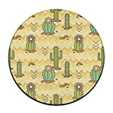 Xu1sh Mexican Cactus Round Seat Cushion With Washable Foam For Office/Vehicles/Home 23.6''