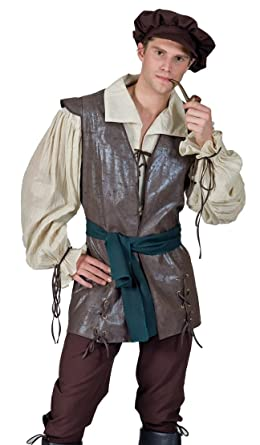 funny fashion mens medieval renaissance fair peasant halloween costume small