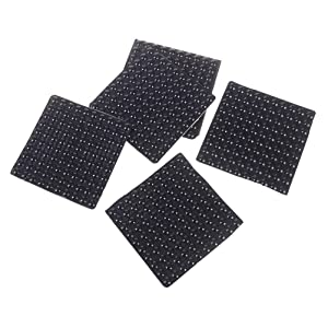 100PCS Self Adhesive Door Buffer Pad Rubber Silicone Feet Cabinet Drawers Clear Semicircle Bumpers Furniture Door Accessories