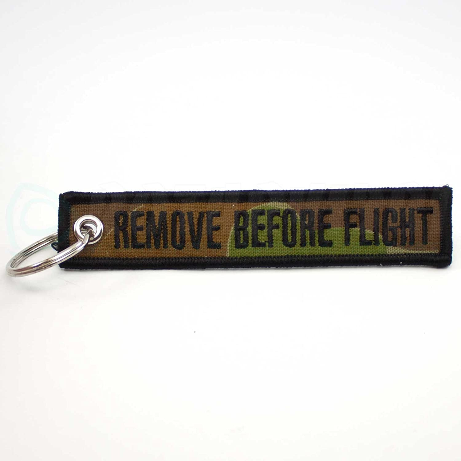 Rotary13B1 Remove Before Flight Camouflage Keychain