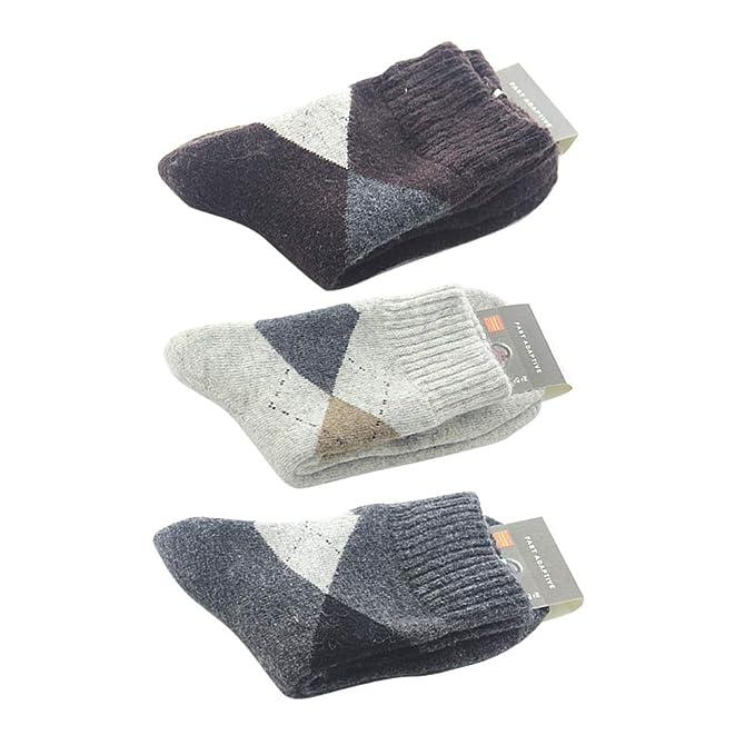 pacchetto alla moda e attraente migliori scarpe da ginnastica ultimo stile VORCOOL Calzini da uomo in cashmere 3 paia Elasticity ...