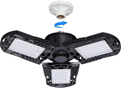 40W 60W E26 E27Triple Glow Deformable Garage Light Premium 6000 Lumens LED L W1n