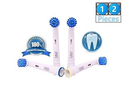 FLM 3D Sensitive Clean EBS17 - Cabezal de recambio para cepillo de dientes eléctrico compatibles con
