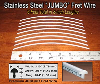 Guitar/Bass Fret Wire - Jescar Stainless Steel JUMBO - Six Feet from Jescar
