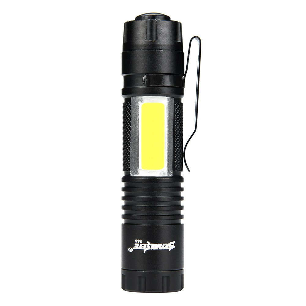 Fudule LED Flashlight CREE Xpe-R3 T6 + COB Bright Flashlight 5000LM High Lumens Mini Flashlight Fit AA Battery Lamp Pocket Size Torch