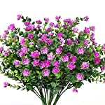 Y wang 5Pack Artificial Flowers Outdoor UV Resistant Plants Shrubs Fake Bushes Greenery for Indoor Outdoor Decor