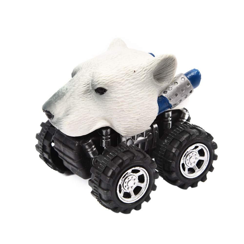 LIKESIDE Mini Vehicle Animal Pull Back Cars with Big Tire Wheel Creative Gifts for Kids