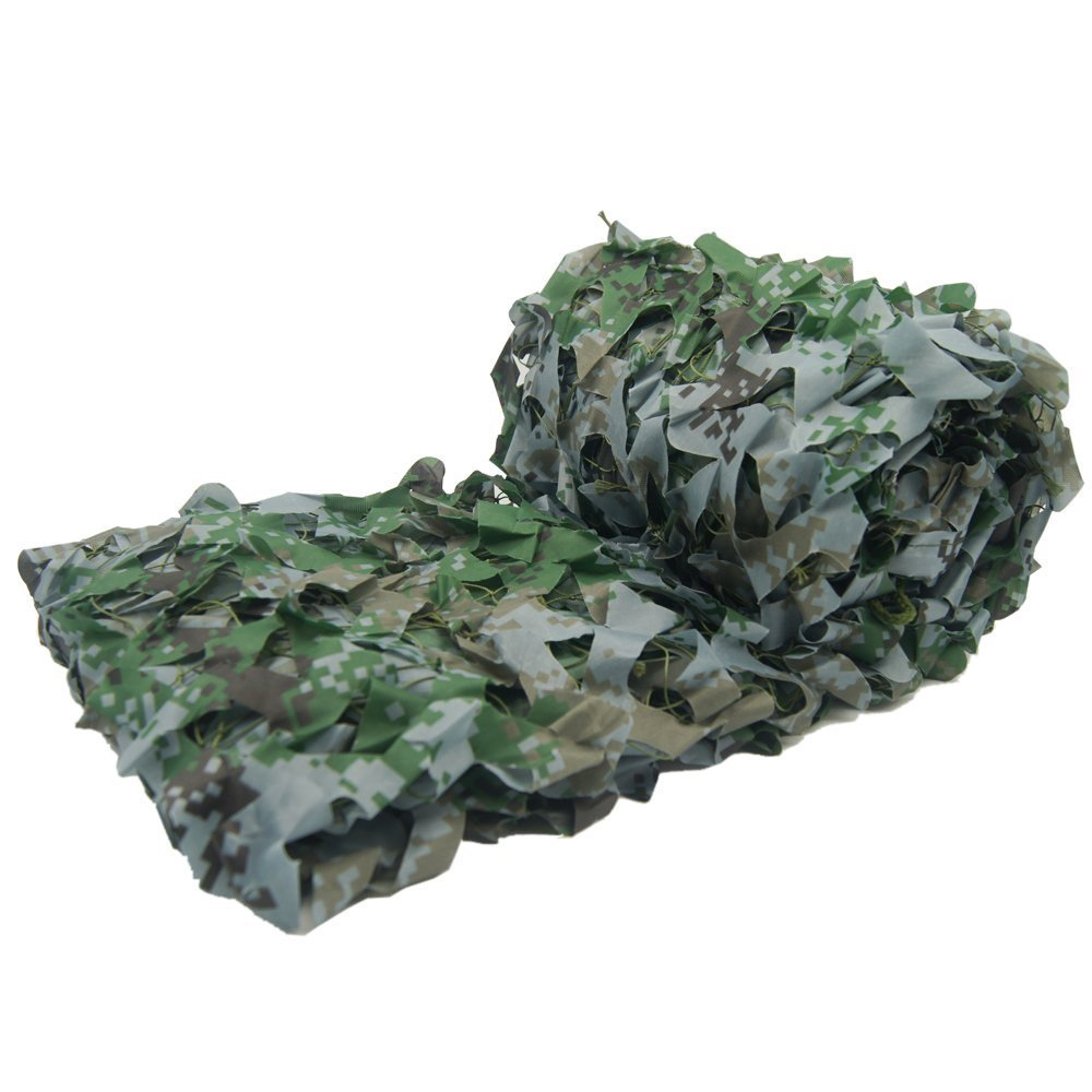Camouflage Netting, HYOUT 6.5x10ft Camo Net Blinds Great For Sunshade Camping Shooting Hunting etc,Woodland Digital