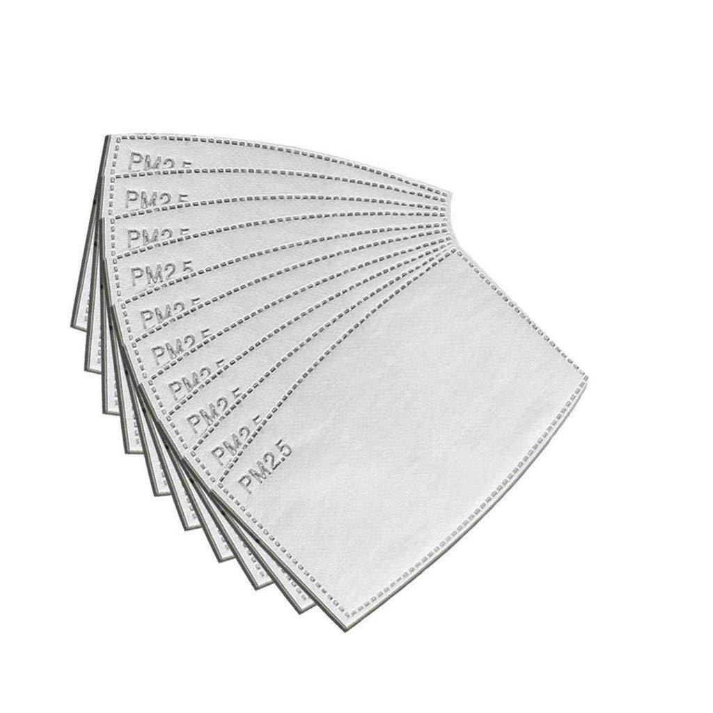 tama/ño adulto gris 5 capas reemplazadas antiniebla AIRAVATA Filtro de carb/ón activado PM2.5 Premium filtro de boca de protecci/ón reemplazado para exterior e interior