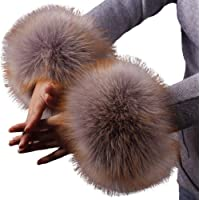 Cherishly Faux Fur Short Wrist Puff, Soft and