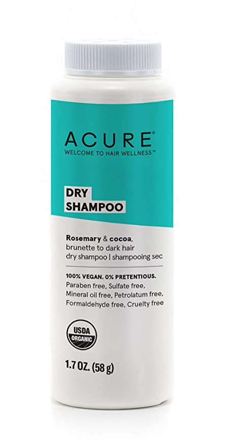 Amazon.com: ACURE Dry Shampoo - Brunette to Dark Hair | 100% Vegan | Certified Organic | Performance Driven Hair Care | Cocoa & Rosemary - Absorbs Oil & Removes Impurities Without Water | 1.7 Fl Oz: Beauty
