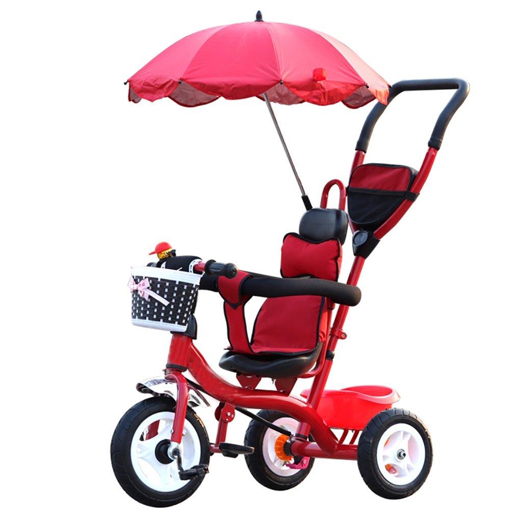 子供用三輪車自転車ベビーカーベビー幼児自転車 (色 : Red)  Red B07FTC8FWV