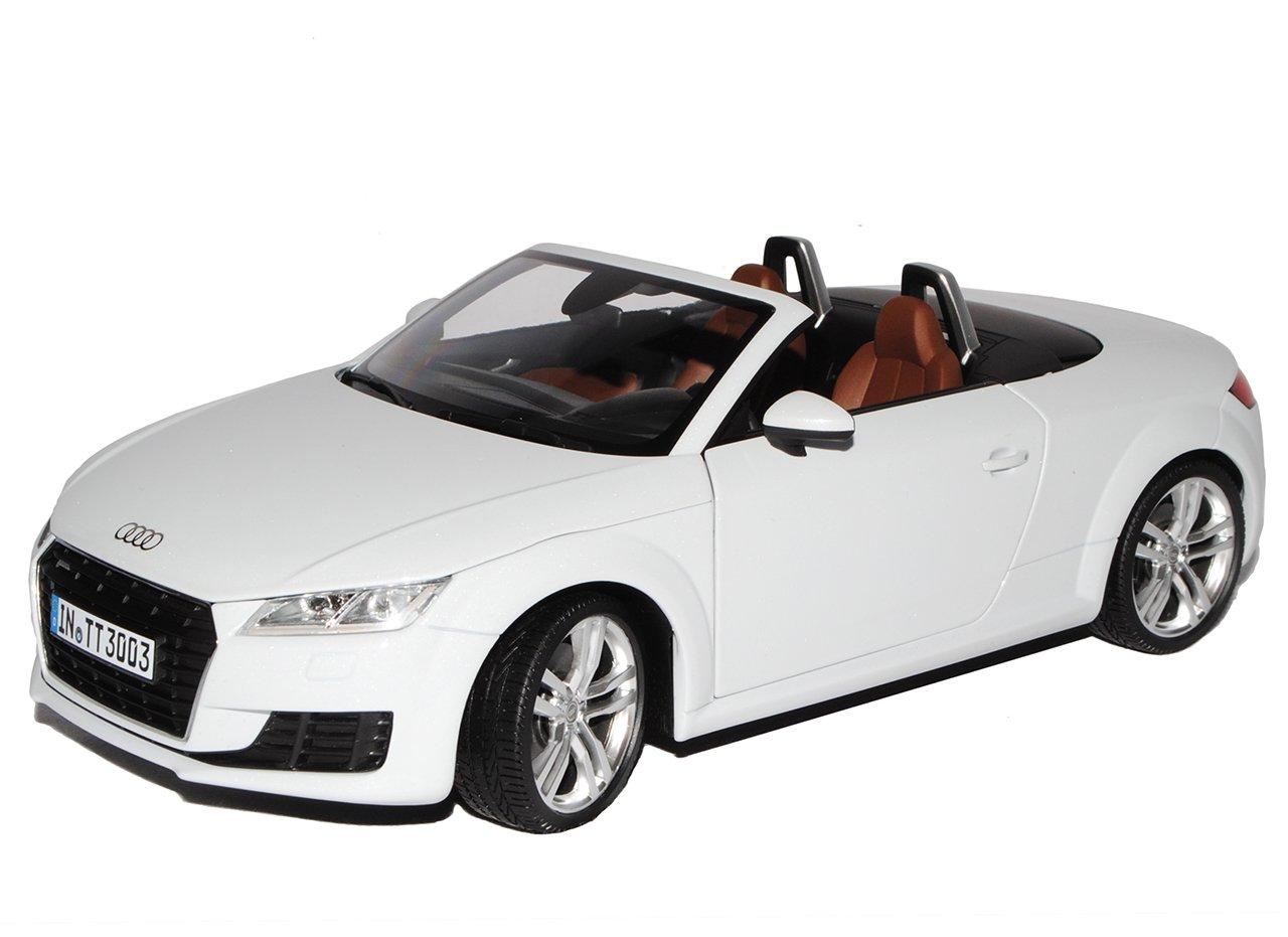 Audi TT 8S Cabrio Roadster Gletscher Weiss 3. Generation Ab 2014 1/18 Minichamps Modell Auto