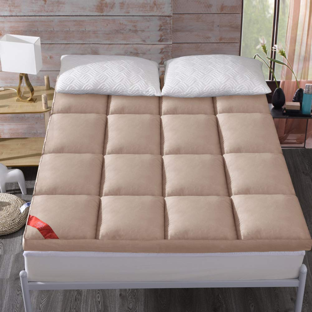 布団 パッドを睡眠 マットレス, パッドを睡眠 寝室ベッド パッド マットマット 洗える ノンスリップ アンチ バクテリア-キャメル B07RXYPR4J