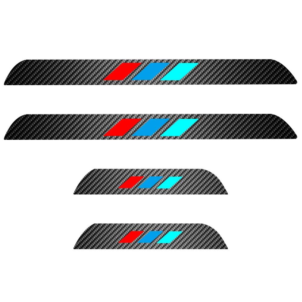 Per 2014-2016 X5 F15 Battitacco Soglia Porta Auto,Carbon Fiber Sticker adesivi Styling,Esterno Batticalcagno Prevenire lusura Previene graffi 4Pezzi