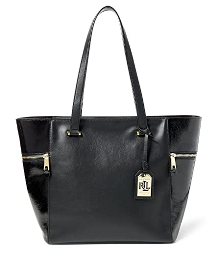 b69097e30620c Amazon.com  NEW AUTHENTIC LAUREN RALPH LAUREN KIMBERLY LEATHER CLASSIC TOTE  HANDBAG  Shoes