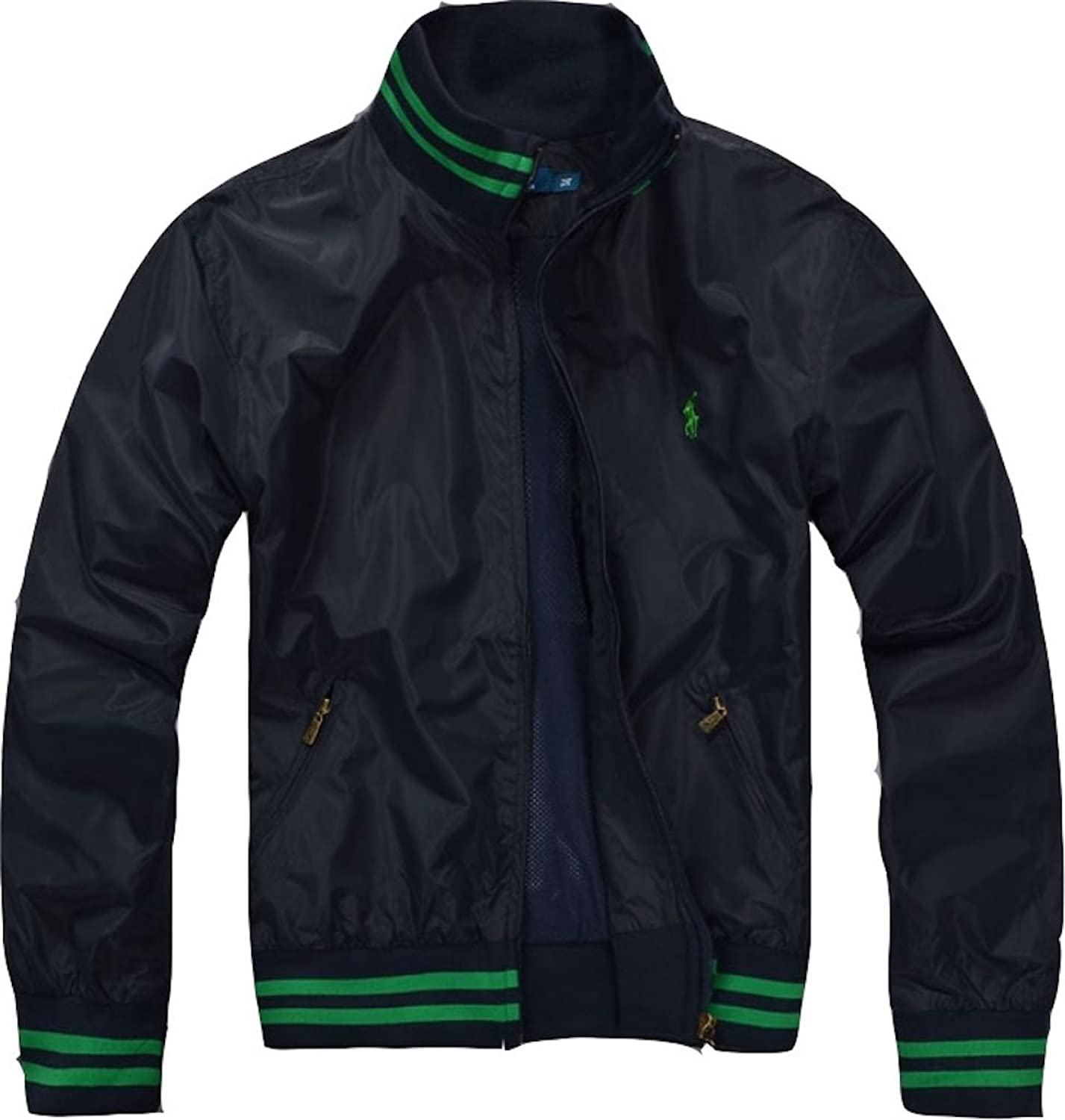 Bomber Jacket With Chest Logo. In Black XL