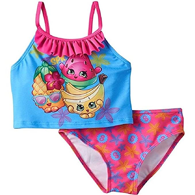 631be6dbc723b Image Unavailable. Image not available for. Color: Shopkins Girls Tankini  Swimsuit 2 Piece ...