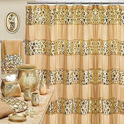 amazon com popular bath sinatra champagne and gold 8 piece shower
