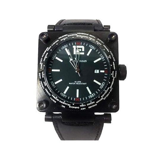 Reloj Paul Versan PV8713-NN Caballero Correa Piel Negra: Amazon.es: Relojes