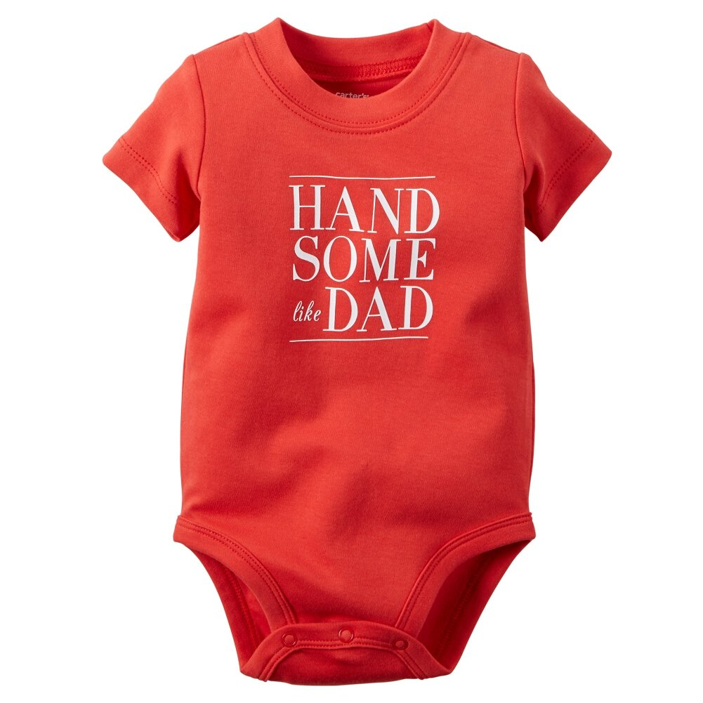 Carters Baby Boys Handsome Like Dad Bodysuit 9 Months Red