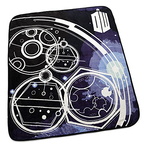 Throw Blanket Raschel 50x60 Micro (Doctor Who The Tardis Gallifrey Micro Raschel Throw Blanket 50