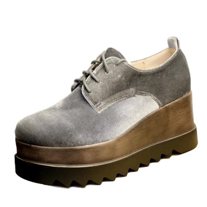 ROCK ON Styles mujer chica fiesta terciopelo Plataforma Tacón Alto Botines Con Cordones Zapatos size.7681 - Granate, 2 UK