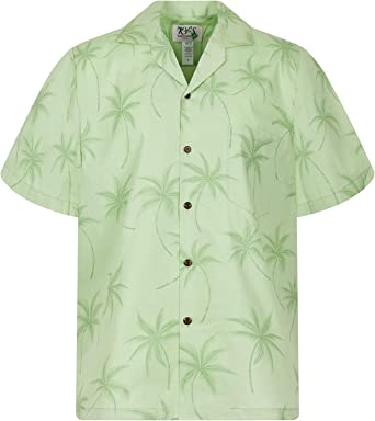 KYs | Original Camisa Hawaiana | Caballeros | S - 4XL | Manga Corta | Bolsillo Delantero | Estampado Hawaiano | Sombra de palma: Amazon.es: Ropa y accesorios