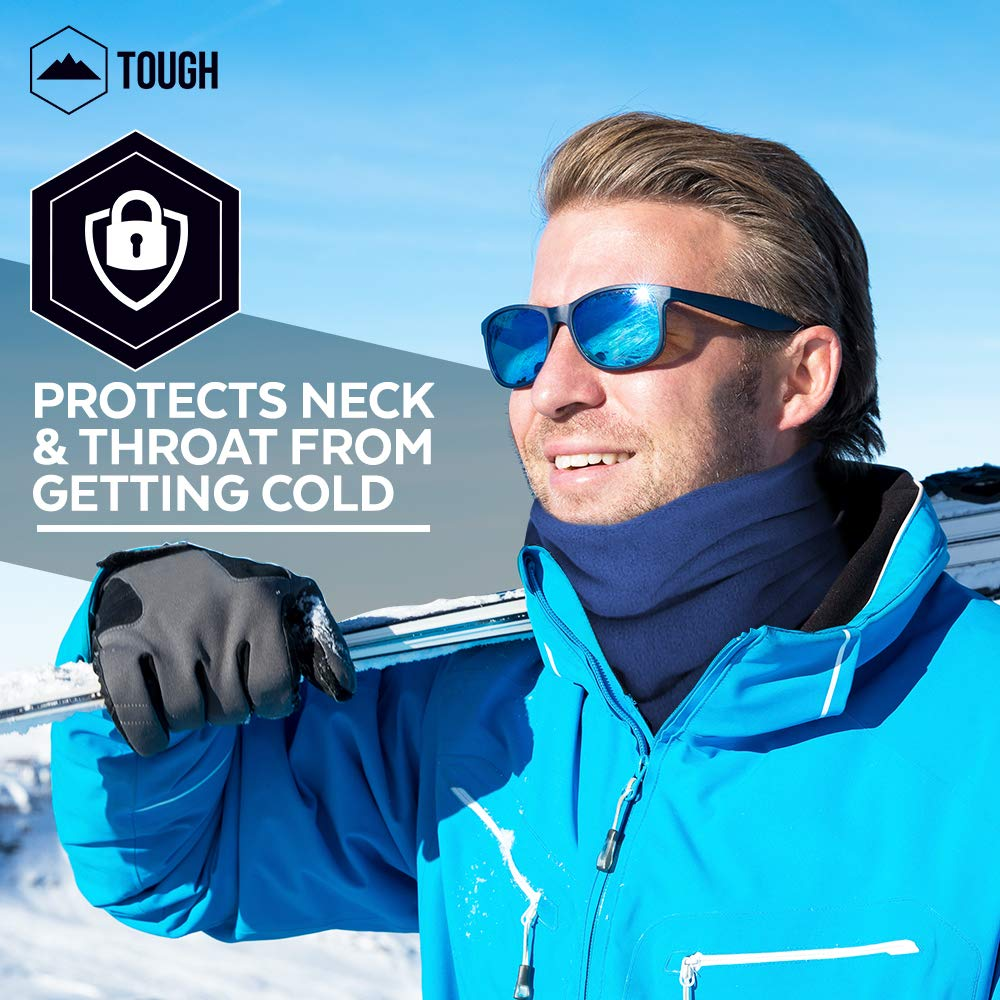 Neck Warmer Snowboarding Thermal Retention /& Versatility Cold Weather Face Cover Mask /& Shield for Running Winter Fleece Neck Gaiter /& Ski Tube Scarf for Men /& Women Ultimate Comfort Skiing