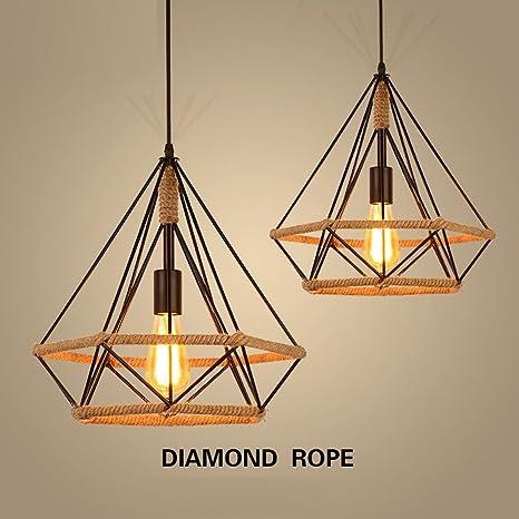 Retro Estilo industrial Lámpara colgante Diamante Diseño de la ...