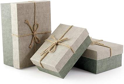 VEESUN Cajas de Regalo, 3pcs Grandes Cartón Bolsas de Regalo Cajas ...