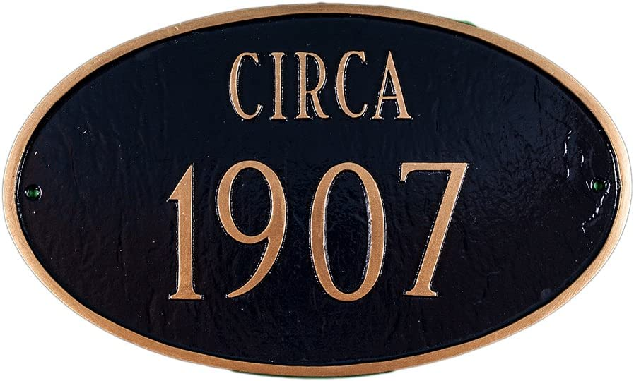 Montague Metal Products Historic Oval Address Plaque, 8.5 by 13.75-Inch