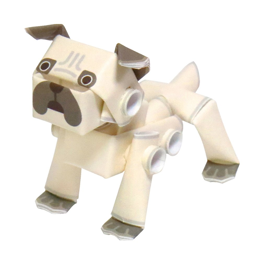 PIPEROID Animals Dogs Pug Paper Craft kit from Japan
