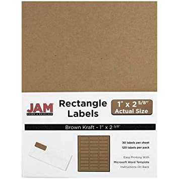 "Amazon.Com : Jam Paper Mailing Address Labels - Small - 1"" X 2 5/8"
