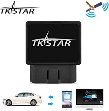 Tkstar OBD Car GPS Tracker,Real Time Tracking Device Teen Driving Coach Free APP Vehicle Anti-theft Monitoring System Support IOS /& Android JUNEO