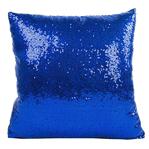 Pillow Case, Gotd Solid Color Glitter Sequins Throw Pillow Case Covers Decorative Cushion Cover ...