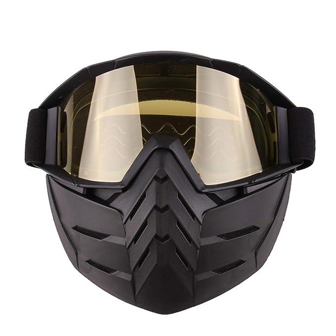 b51fd53be6 AnazoZ Gafas de Máscara Gafas de Moto Gafas Protectoras Viento Gafas  Protectoras Gafas Protectoras Deporte Gafas Amarillo: Amazon.es: Ropa y  accesorios